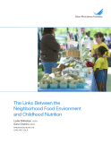The Links Between the Neighborhood Food Environment and Childhood Nutrition