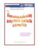 Đề Tài: Kế hoạch marketing sản phẩm trà Oolong của cộng ty TNHH trà - cà phê Tâm Châu tại thị trường Thành Phố Hồ Chí Minh