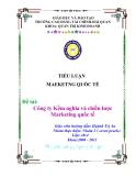 Đề Tài:  Công ty Kềm nghĩa và chiến lược Marketing quốc tế