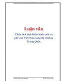 Luận văn: Phân tích tình khẩu hình xuất cà phê của Việt Nam sang thị trường Trung Quốc