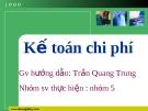 Kế toán chi phí - Trần Quang Trung