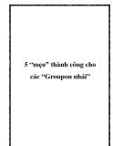 """5 """"mẹo"""" thành công cho các """"Groupon nhái"""""""