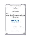 Tiểu luận: Phân tích câu chuyện quản trị của Nokia
