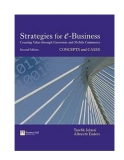 Strategies for e business creating value through electronic and mobile commerce