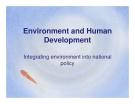 Environment and Human Development