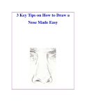 3 Key Tips on How to Draw a Nose Made Easy