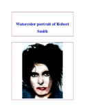 Watercolor portrait of Robert Smith