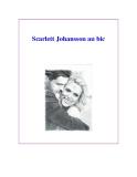 Scarlett Johansson au bic