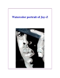 Watercolor portrait of Jay-Z
