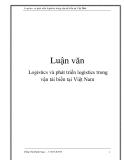 Luận văn: Logistics và phát triển logistics trong vận tải biển tại Việt Nam