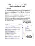 SEO và các bước thực hiện SEO (Tài liệu sưu tầm trên mạng)