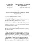 Quyết định số 735/QĐ-UBND