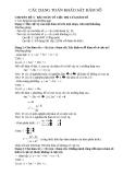 Các dạng toán khảo sát hàm số