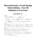 Microelectronic Circuit Design Third Edition - Part III Solutions to Exercises