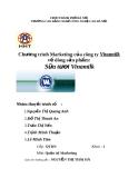 """Đề tài """" Chương trình Marketing của công ty Vinamilk về dòng sản phẩm: Sữa tươi Vinamilk """""""