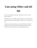 Làm móng Glitter nail nổi bật