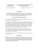 Quyết định số 1141/2012/QĐ-UBND