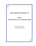 ĐỀ TÀI:KINH DOANH CÂU LẠC BỘ BILLIARDS
