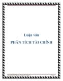 Luận văn: PHÂN TÍCH TÀI CHÍNH