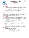 Đề thi: Môn xác suất thống kê-Đề 3