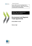 Environment and Regional Trade Agreements