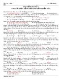 Bài kiểm tra số 2 , chương 1, Con Lắc đơn-tổng hợp dao động điều hòa