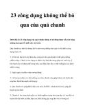 23 công dụng không thể bỏ qua của quả chanh