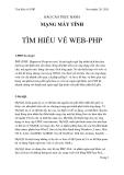 """BÁO CÁO THỰC HÀNH  MẠNG MÁY TÍNH """" TÌM HIỂU VỀ WEB-PHP """""""