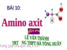 BÀI GIẢNG HÓA: BÀI 10. AMINO AXIT
