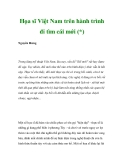 Họa sĩ Việt Nam trên hành trình đi tìm cái mới