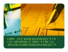 Bài giảng Chiến lược kinh doanh quốc tế và các mô hình cấu trúc tổ chức của doanh nghiệp kinh doanh quốc tế