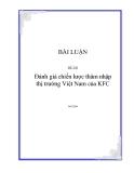 Đề Tài: Đánh giá chiến lược thâm nhập thị trường Việt Nam của KFC