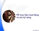 PR mục tiêu hoạt động và các kỹ năng