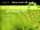 Chuyên đề Mạng truyền dẫn quang (TS. Võ Viết Minh Nhật) - Bài 5 Mạng chuyển mạch gói quang OPS