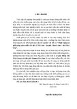 Thực trạng và giải pháp phát triển chè tại xã Yên Sơn - huyện Thanh Sơn - tỉnh Phú Thọ