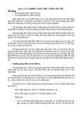 BÀI 6: CÁC PHƯƠNG PHÁP ĐIỀU CHỈNH VẬN TỐC