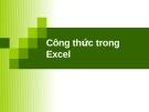 Tin học đại cương: Công thức tính trong Excel