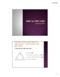 BÌNH SAI ĐIỀU KIỆN (Nguyễn Quang Minh) - Phương trình điều kiện số hiệu chỉnh - Lưới khống chế mặt bằng