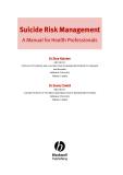 Suicide Risk ManagementA Manual for Health ProfessionalsDr Stan KutcherMD FRCPC Professor of