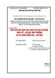 Chuyên đề 3: BÁO CÁO KẾT QUẢ THU THẬP TÀI LIỆU CƠ BẢN, KINH TẾ – XÃ HỘI, MÔI TRƯỜNG HẠ DU SÔNG ĐỒNG NAI – SÀI GÒN