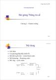 Bài i giảng Thông tin số-Chương 2 - Channel coding
