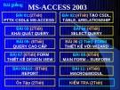 Bài giảng  MS-ACCESS 2000-Bài 1: PTTK CƠ SỞ DỮ LIỆU KHÁI QUÁT MS-ACCESS