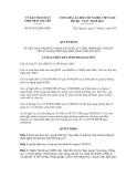 Quyết định số 07/2012/QĐ-UBND Ủ