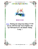 Đề tài: Hướng mở rộng hoạt động CVTD tại các NHTM Việt Nam (Nghiên cứu tại NHNo&PTNT chi nhánh Thăng Long )