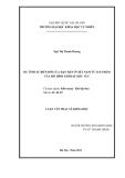LUẬN VĂN THẠC SỸ KHOA HỌC DỰ TÍNH SỰ BIẾN ĐỔI CỦA HẠN HÁN Ở VIỆT NAM TỪ SẢN PHẨM CỦA MÔ HÌNH KHÍ HẬU KHU VỰC