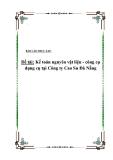 Luận văn tốt nghiệp: Kế toán nguyên vật liệu - công cụ dụng cụ tại Công ty Cao Su Đà Nẵng '