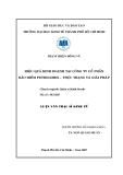 Luận văn: Hiệu quả kinh doanh tại công ty cổ phần bảo hiểm Petrolimex - thực trạng và giải pháp