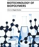 BIOTECHNOLOGY OF  BIOPOLYMERS