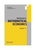Advances in MATHEMATICAL ECONOMICS - Akira Yamazaki