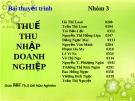 THUẾ THU NHẬP DOANH NGHIỆP - Ths Đỗ Hữu Nghiêm
